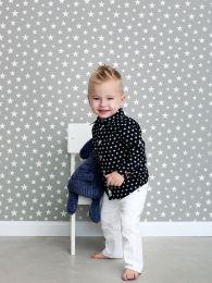 Papier peint Little Stars gris