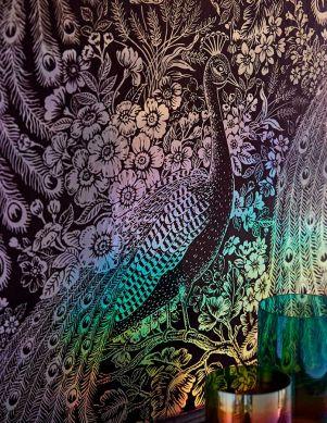 Papel pintado Izanuela gris plateado diamante Ver habitación