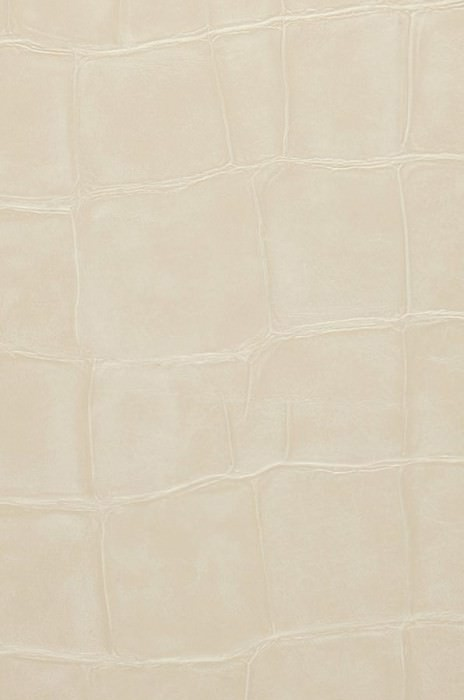 Wallpaper Croco 11 Matt Imitation leather Light ivory