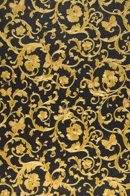 Papel pintado Glory amarillo oro brillante Ancho rollo