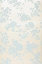 Wallpaper Skadi Matt pattern Shimmering base surface Flowers Grey white Light blue
