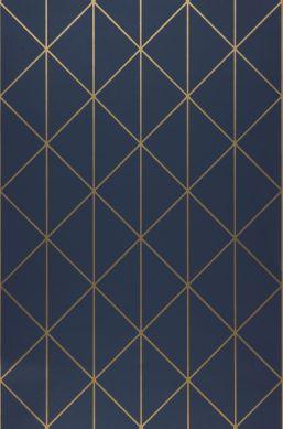Wallpaper Biloba dark blue Roll Width