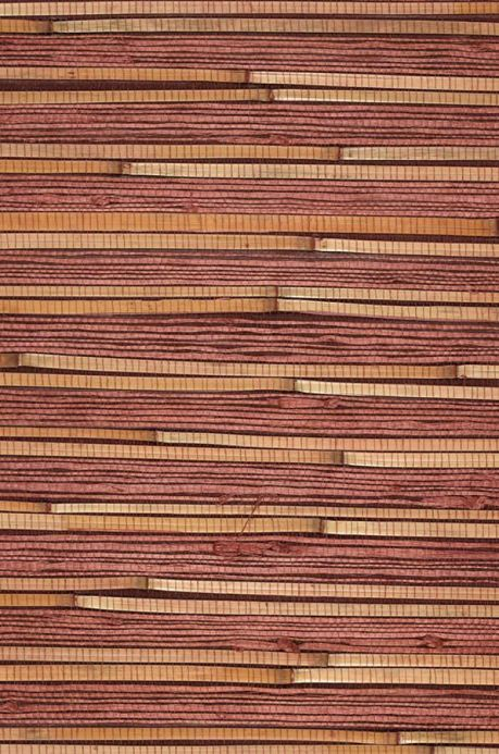 Archiv Wallpaper Natural Bamboo 02 brown red A4 Detail