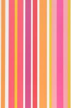 Wallpaper Jama Matt Stripes Cream Honey yellow Orange Rose Red