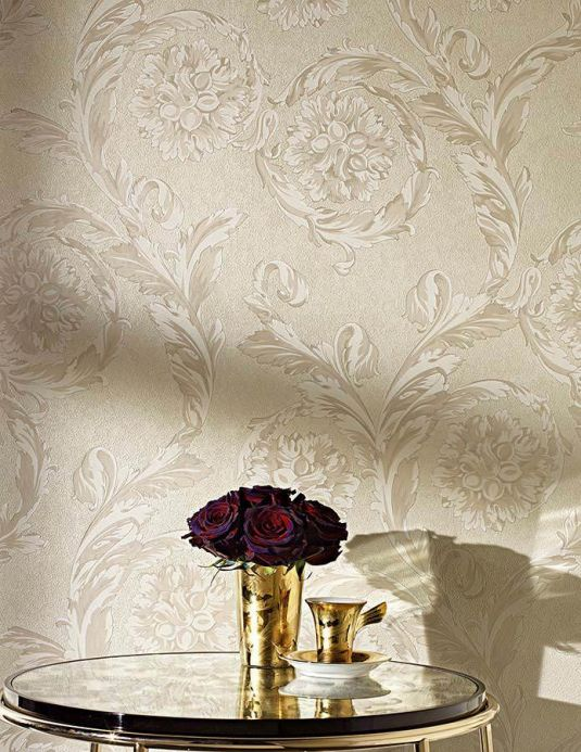 Versace Wallpaper Wallpaper Clarissa light grey beige Room View