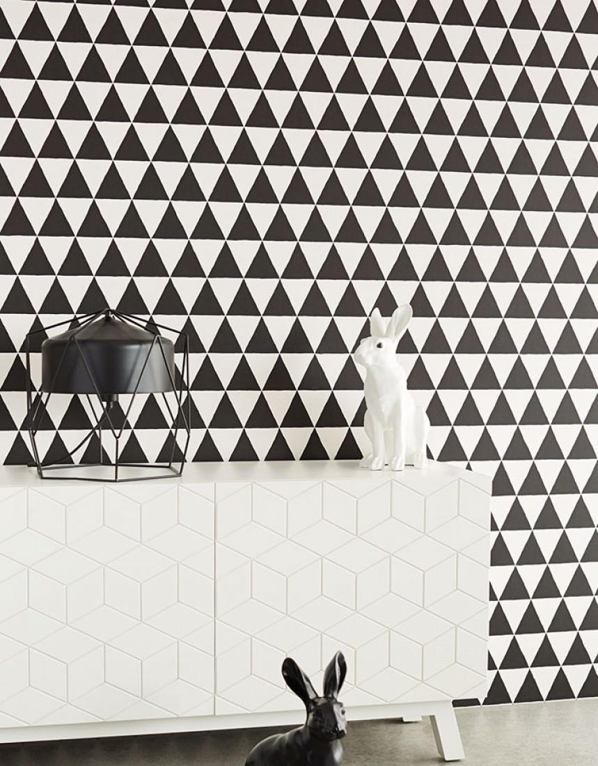 tapete eulan schwarz weiss tapeten der 70er. Black Bedroom Furniture Sets. Home Design Ideas