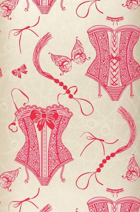 Archiv Wallpaper Zalina fuchsia Roll Width