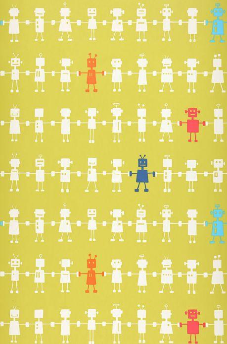 Archiv Wallpaper Mulisikel yellow green Roll Width