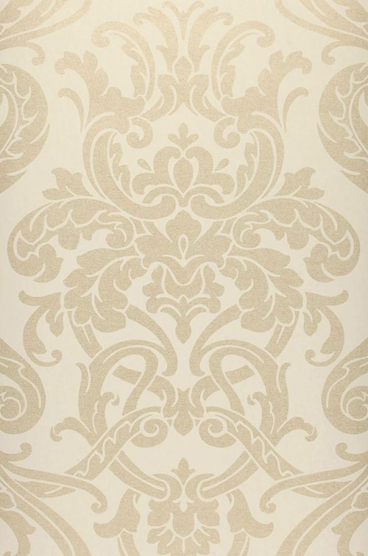 Papel pintado maradila blanco crema oro p lido - Papel pintado de los 70 ...