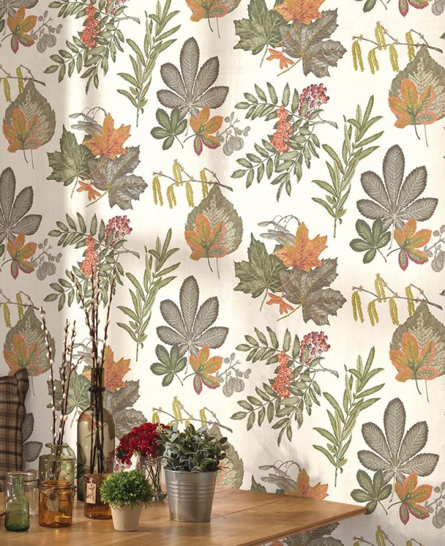 tapete samarina cremeweiss dunkelgr n farngr n. Black Bedroom Furniture Sets. Home Design Ideas
