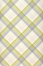 Papel de parede Arristo Mate Xadrez Branco creme Verde amarelado claro Cinza claro Rosa brilhante