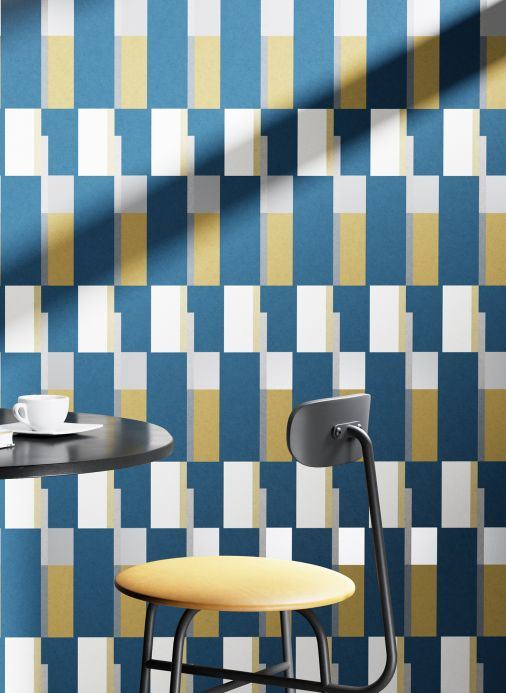 Bauhaus Wallpaper Wallpaper Haldis ochre yellow Room View
