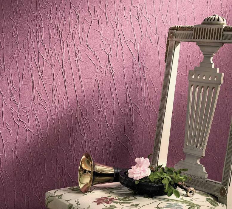 Wallpaper Crush Elegance 01 Matt Wrinkles Pale red violet
