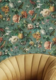Wallpaper Margarete pine green