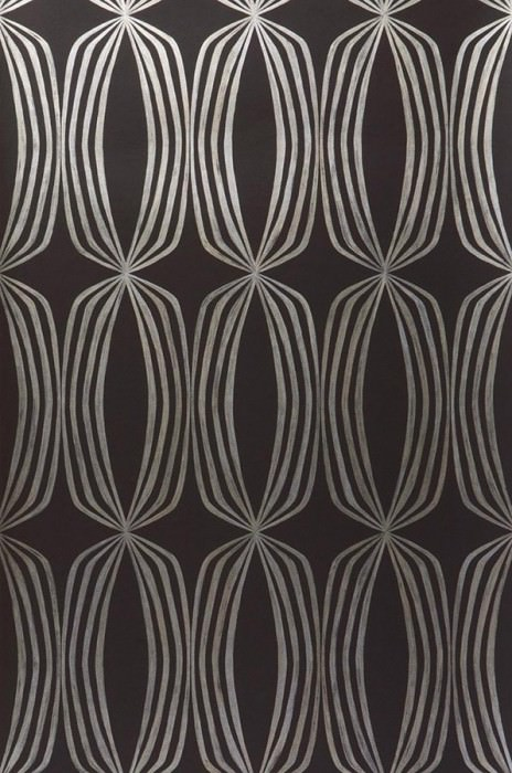 Wallpaper Levana Shimmering pattern Matt base surface Rhombuses Black brown Gold
