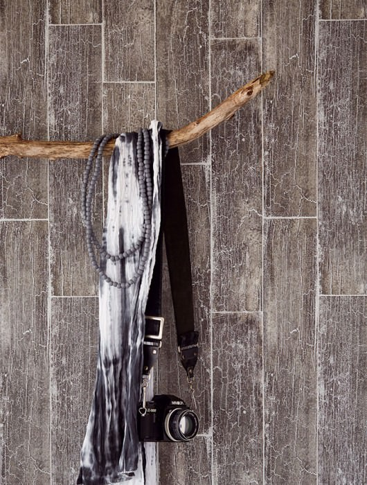 Wallpaper Atoras Matt Old wooden boards Dark grey Silver shimmer
