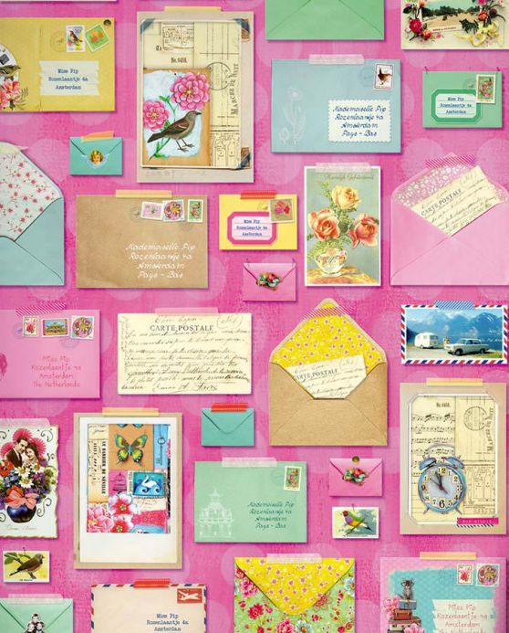 Archiv Carta da parati Zotz multicolore Visuale dettaglio