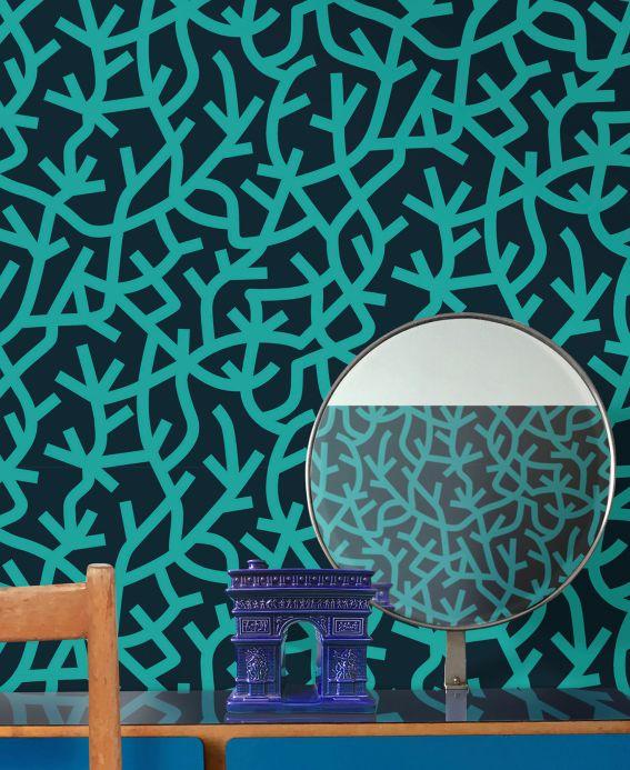 Papier peint design Papier peint Oceane bleu d'eau Vue pièce