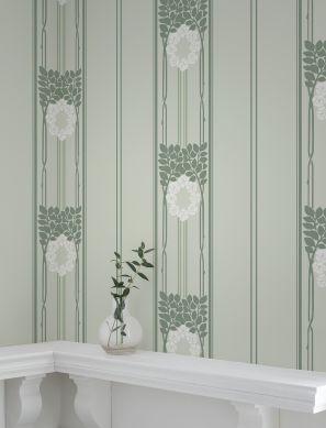 Papel pintado Imke blanco Ver habitación