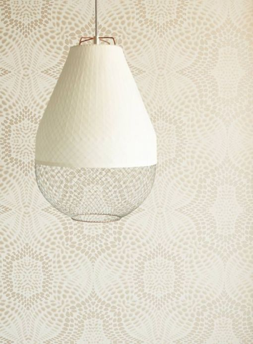 Archiv Wallpaper Selma light grey beige Room View