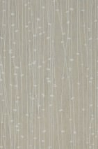 Wallpaper Matisse Hand printed look Matt Graphic elements Stripes Light grey Grey white