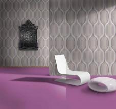 Wallpaper Belafanta Matt Retro elements Grey tones Dark grey Light grey White