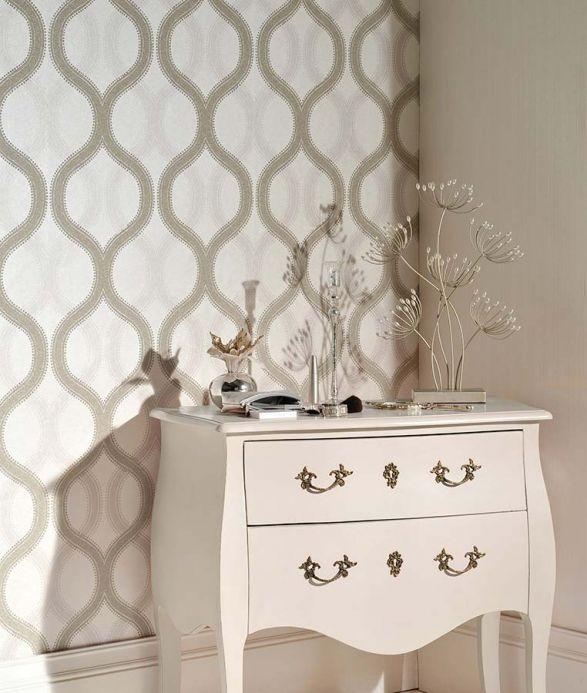 Archiv Wallpaper Alfadur silver lustre Room View