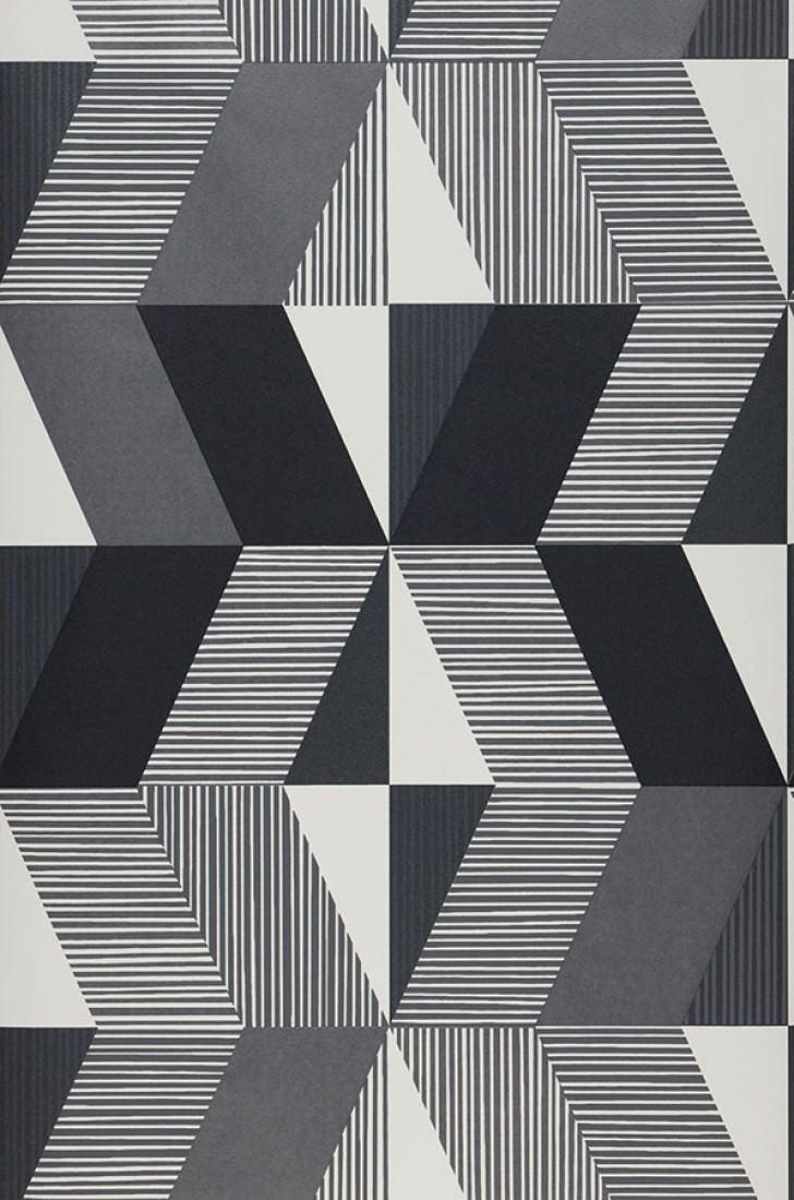 Papel pintado aaron blanco crema tonos de gris for Papel pintado de los 70
