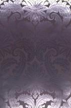 Wallpaper Nemesis Metallic effect Baroque damask Black grey Silver lustre