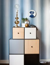 Wallpaper Amalius Matt Stripes Grey blue Grey white Light grey blue