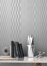 Papel de parede Serika aluminio branco