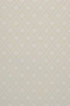 Wallpaper Martha Matt Rhombuses Wind roses Light grey Cream