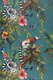 Carta da parati Madagascar blu acqua