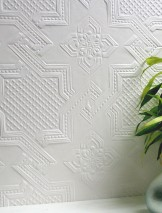Wallpaper Seymour Matt Historic damask White