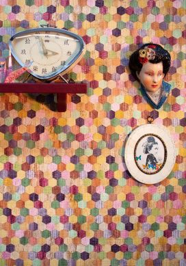 Papel pintado Calaneo multicolor Raumansicht