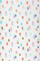 Wallpaper Fabiola Matt Dots Cream Blue Blue lilac Pearl gold Turquoise