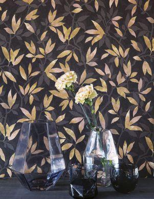 Wallpaper Dagista grey brown Room View