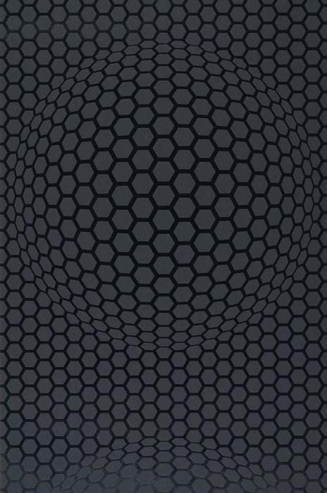 Wallpaper Hypnos Matt Honeycombs Black lustre