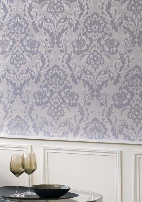 Papel de parede Papel de parede Anastasia cinza Ver ambiente