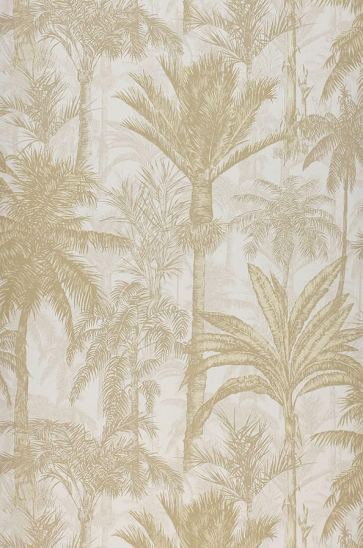 Papel pintado desert palms blanco crema beige parduzco for Papel pintado romantico