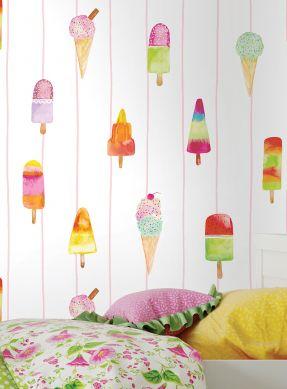 Papel pintado Gran Gelato multicolor Ver habitación