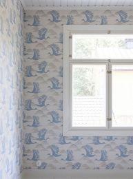 Wallpaper Alva pigeon blue