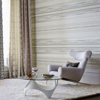 Papel pintado Cosima beige grisáceo claro Ver habitación