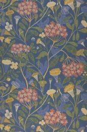Wallpaper Flowery blue grey