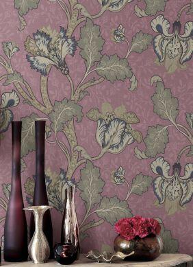 Papier peint Mandaya violet pastel Vue pièce