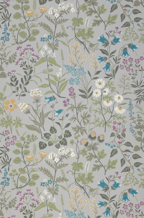 Floral Wallpaper Wallpaper Aislinn light grey Bahnbreite
