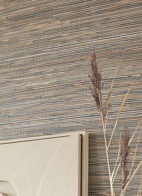 Papel de parede Grass on Roll 14 bege pardo Raumansicht