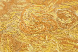 Wallpaper VanGogh Wheatfield Matt Wheat field Golden yellow Ochre brown Orange Zinc yellow