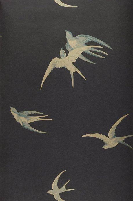 Papier peint campagne Papier peint Izanami gris noir Largeur de lé