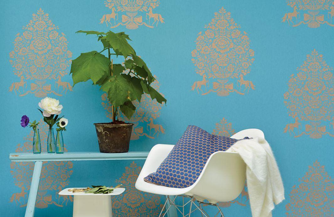 Archiv Wallpaper Sisan light blue Room View